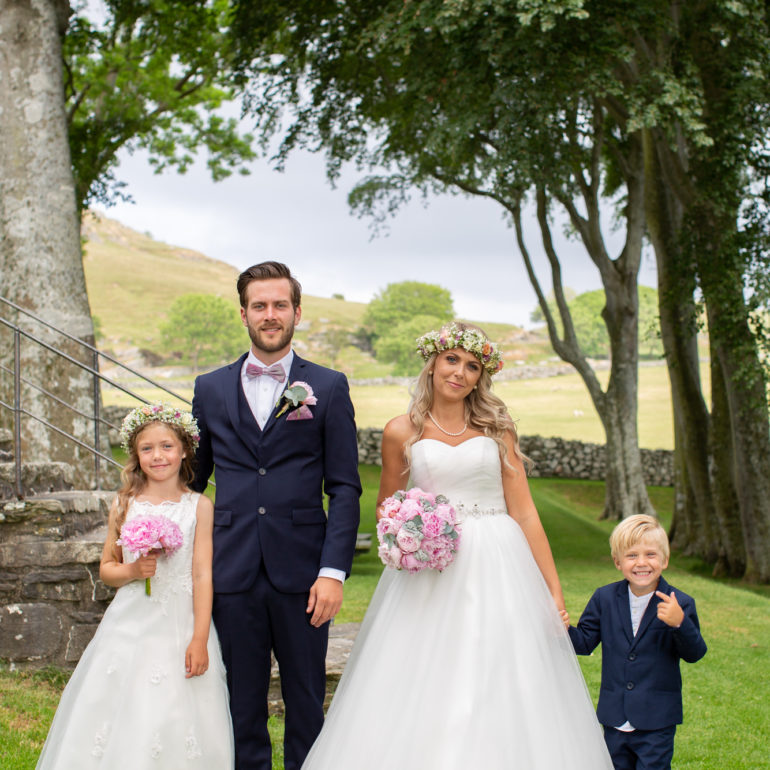 Familiebilde bryllup Stavanger