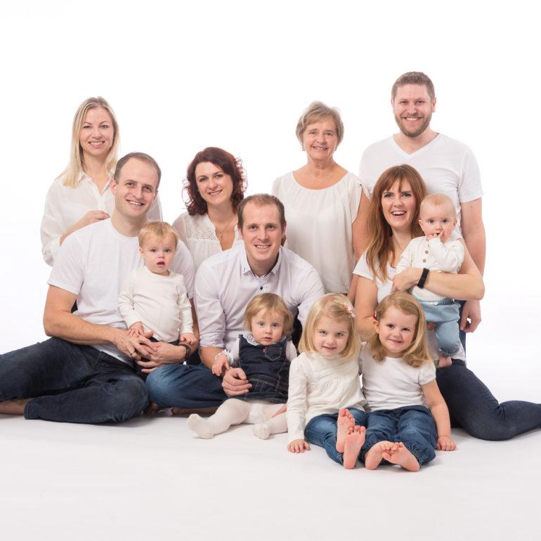 Familiefoto i studio, Stavanger Åsen